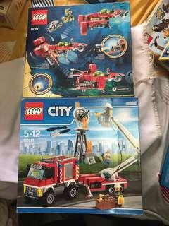 LEGO city 60111 & LEGO Atlantis 8060 MIB Lot