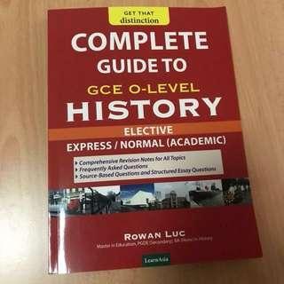 O level elective history guide