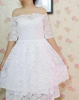 Sabrina White gown