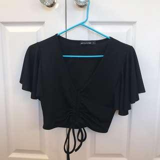 Ruched tie top