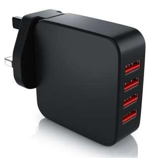 P10 4 Port USB Charger 4000mA