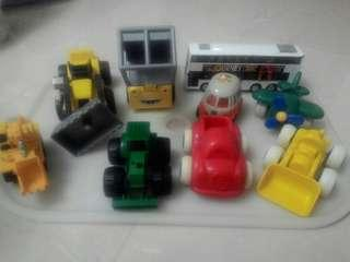 Toy Cars, Bus, Construction Vehicles