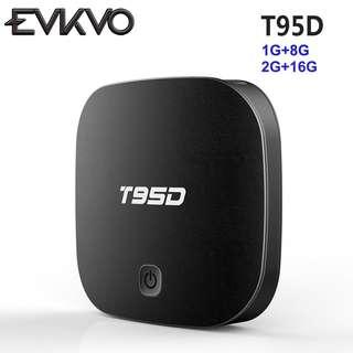 T95D 2G+16G Smart TV Box RK3229 Quad Core Android 6.0 2.4GHz WiFi HD KD Player