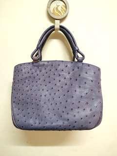 Genuine Ostrich Leather Handbag