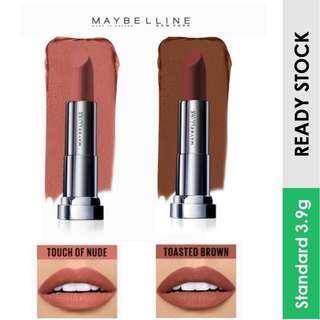 Maybelline Color Sensational Powder Mattes Lipstick, Toasted Brown