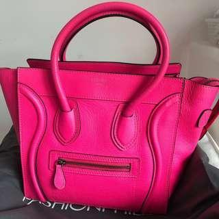 Celine Micro Pink Luggage