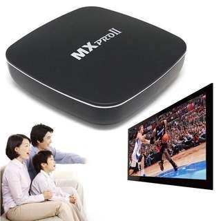 MX Pro II Android 5.1 S905 TV Box Quad Core Bluetooth Wifi 3D KODI Black US