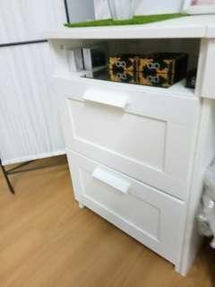(Turun harga)Ikea brimnes 2 tiers drawers laci white