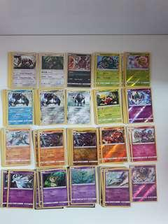 Pokemon assorted playable cards