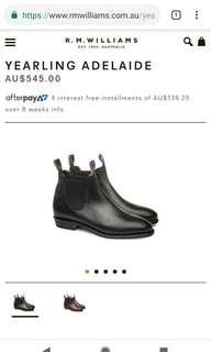 RM Williams - Black Adelaide Boots