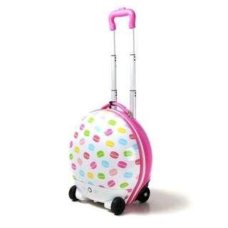 Electric Walking suitcases luggage with Macaron Painting