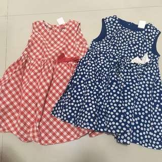 HnM baby dress set 2pcs