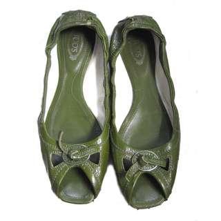 Tods Peep Toe Flats