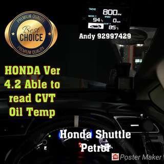 Honda Shuttle Lufi X1 Revolution OBD OBD2 Gauge Meter display Gauge