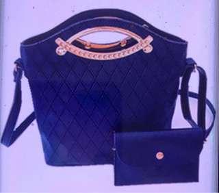 Korean Quilt Handbag Set