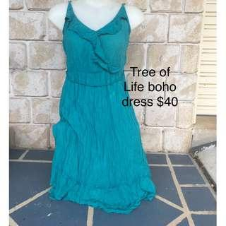 FREE POST Womens tree of life boho festival hippie summer dress