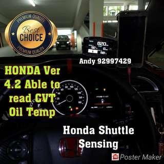 Honda Shuttle Sensing Lufi X1 Revolution OBD OBD2 Gauge Meter display