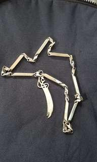 One a kind stainless steel pendant and chain