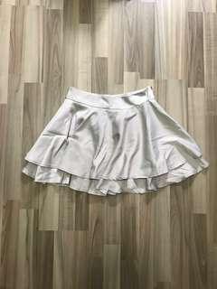 BNIP Love Bonito Flowy Layered Skirt In Grey