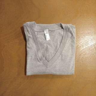 American Apparel Gray V-Neck T-shirt