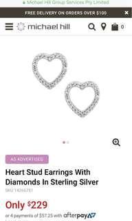 Michael Hill diamond earrings