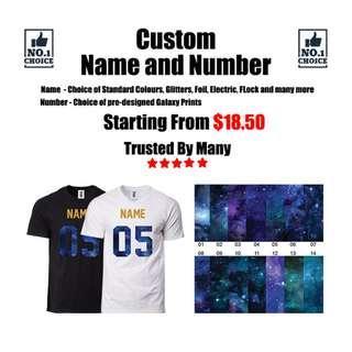 Custom Name & Number Printing