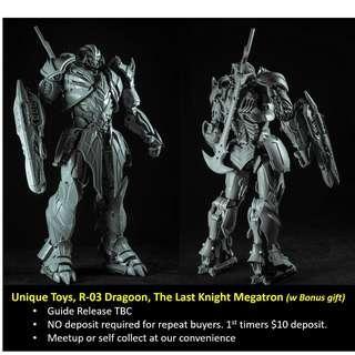 [Preorder] Unique Toys, R-03 Dragoon, The Last Knight Megatron (with Bonus Gift)