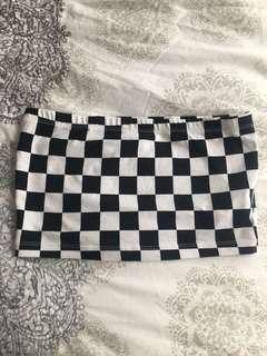 Forever 21 checkered strapless top