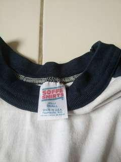 PLAIN SHIRT 3 QUATER SLEEVE (WHITE DARK BLUE)