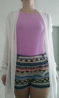 White Knitted Chiffon outerwear