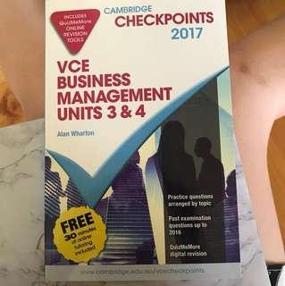 VCE Business management units 3/4 checkpoint