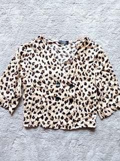 Bershka Leopard top