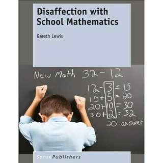 ( eBook ) Disaffection with School Mathematics