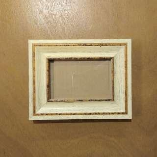 Yellow Wooden Finish Picture Frame ; S