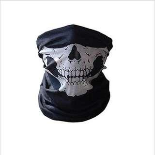 Seamless multi-function magic scarf Outdoor riding mask warm scarf Halloween props Variety skull scarf