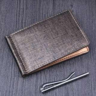 Japan Men Bifold Business Leather Wallet  luxury brand famous ID Credit Card visiting cards wallet magic Money Clips