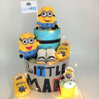 Minion Diapers Cake- 2 tier with Led lighting