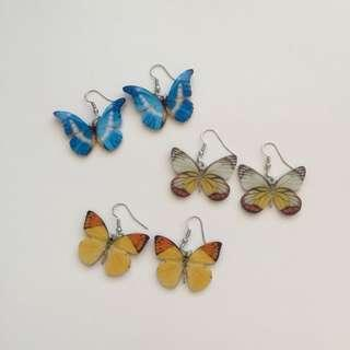 BUTTERYFLY EARRINGS (Set 1)