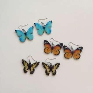 BUTTERFLY EARRINGS (Set 3)