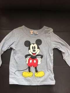 H & M Mickey Mouse Long sleeve t-shirt