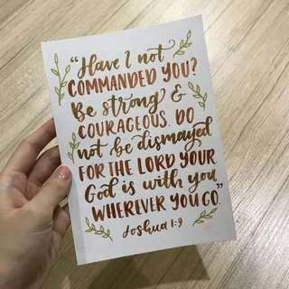 Custom Quote Calligraphy