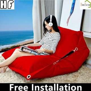 Bean Bag/Small sofa/Type B 140*180cm(Blue,Red,Green,Cream)