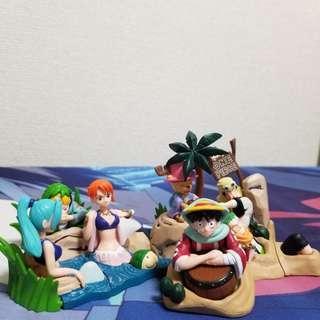 Gachapon One Piece Figures