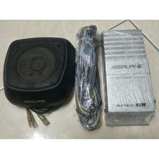 Alpine Center Speaker Complete Center Channel Amplifier