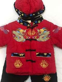 👶🏻 紅色賀年套裝衫