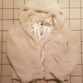 BNWT White Teddy Jacket