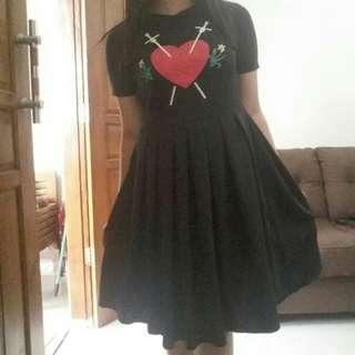 Dress black love 💕