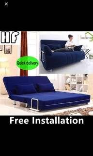 Sofa Bed/Sofa/Type E 120cm(Blue,Brown stock is stock)