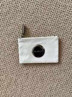 MIMCO WHITE SMALL POUCH