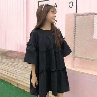 Black layered doll dress